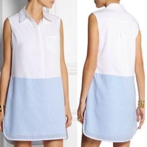 ALTUZARRA for Target Blue/White Shirt Dress Medium